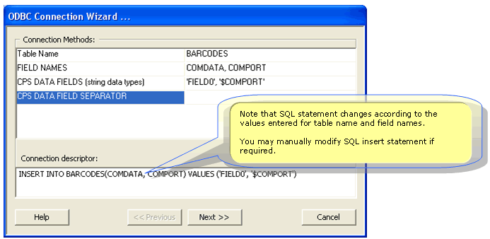 setup rs232 data to sql database
